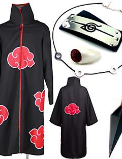 Inspireret af Naruto Itachi Uchiha Anime Cosplay Kostumer Cosplay Kostumer Mere Tilbehør Trykt mønsterHalskæde Kappe Mere Tilbehør Våben