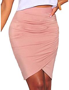vrouwen roze / zwart / groene rok, bodycon / werk boven de knie