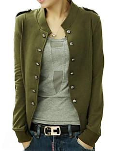 Frauen-blau / schwarz / grüne Jacke, lange Hülse