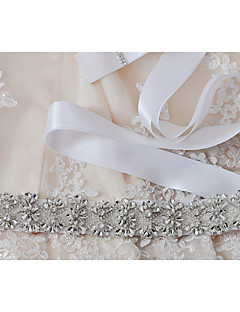 Sateng Bryllup / Fest/aften / Hverdag Sash-Paljetter / Perler / Appliquéer / Krystall / Rhinstein Dame 98.5 tommer (ca. 250cm)Paljetter /