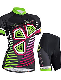 NUCKILY® Cycling Jersey with Shorts Women's Short Sleeve BikeWaterproof / Breathable / Ultraviolet Resistant / Moisture Permeability /