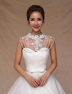 Wedding Sequined Collars Sleeveless Wedding  Wraps