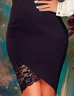 婦人向け セクシー / ヴィンテージ 膝丈 スカート , ポリエステル / スパンデックス 伸縮性あり