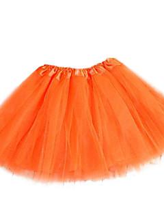 נשים חצאיותMini גיזרה גבוהה Polyesteri / ניילון מתיחה סתיו