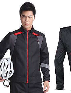 KINGBIKE® Cycling Jersey with Tights Men's Long Sleeve BikeWaterproof / Breathable / Thermal / Warm / Quick Dry / Fleece Lining /