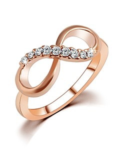 2016 New Top Quality Fashion Rose Gold Plated Zircon Crystal Infinity Rings For Women Fine Jewelry wholesale