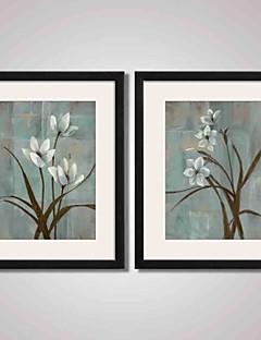 Abstrakt / Landskab / Blomstret/Botanisk / Stilleben Indrammet Kunsttryk / Indrammet Lærred / Indrammet Sæt Wall Art,PVC SortMåtte