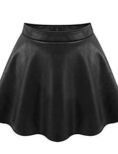 Mulheres Saias Acima do Joelho Plus Sizes / Casual Poliuretano Micro-Elástica Mulheres