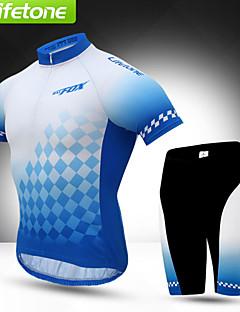 BATFOX® חולצת ג'רסי ומכנס קצר לרכיבה לגברים שרוול קצר אופנייםנושם / ייבוש מהיר / עמיד / עמיד אולטרה סגול / הגנה בפני קרינה / רוכסן YKK /