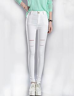 Pantaloni Da donna Skinny Casual / Semplice Cotone / Elastene Elasticizzato