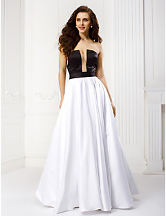 TS Couture® Formal Evening Dress Plus Size / Petite A-line Strapless Floor-length Satin with