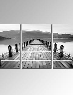 Abstrait / Moderne / Romantique / Pop Art / Fantaisie / Loisir / Paysage / Photographie Toile Trois Panneaux Prêt à accrocher ,Format
