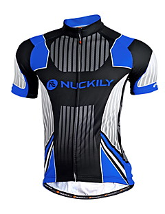 NUCKILY® Cycling Jersey Men's Short Sleeve BikeBreathable / Quick Dry / Anatomic Design / Moisture Permeability / Front Zipper / Water