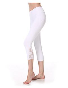 Yoga Pants Fundos Respirável / Secagem Rápida / wicking / Redutor de Suor Natural Stretchy Wear Sports Branco / Verde / Fúcsia Mulheres