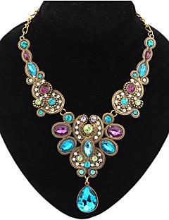 Women's Statement Necklaces Bib Necklaces Gemstone Drop FashionEuropean Luxury Jewelry for Party