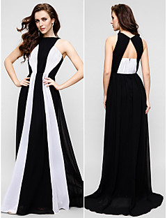 TS Couture® Formal Evening Dress Plus Size / Petite Sheath / Column Jewel Floor-length Chiffon with
