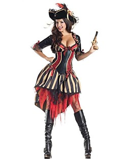 Cosplay Costumes / Party Costume Wizard/Witch Festival/Holiday Halloween Costumes Black Patchwork Dress / Hat Halloween / Carnival Female