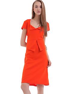 yizoo kvinnors blå / orange / grön fodralklänning