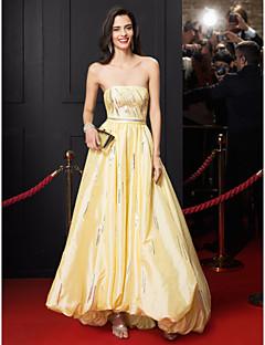 TS Couture Formal Evening Dress - Daffodil A-line Strapless Asymmetrical Taffeta
