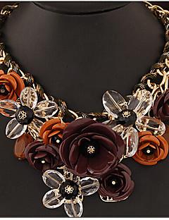 Femme Pendentif de collier Colliers Déclaration Forme de Fleur Bijoux Gemme Alliage Bijoux de Luxe Tressé Fête / Célébration bijoux de