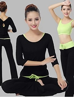 Yoga Suit Sports Causal Running Clothing Fitness Clothes Yoga Wear Gear Suits = Vest +Half Sleeve Top + Long Trousers