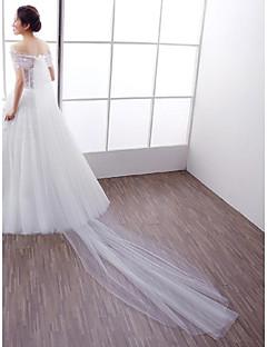כורכת חתונה בולרו בלי שרוולים תחרה טול לבן חתונה מסיבה / ערב Off-the-shoulder אפליקציות חרוזים תחרה אבזם נסתר