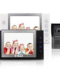 "TMAX® 8"" LCD Video Door Phone  SD Card Recording  with  600TVL HD IR Camera (1Camera to 2Monitors)"