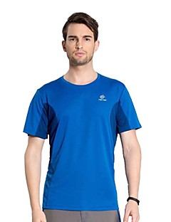 Outdoor Hiking Camping Tectop Men Polyester Short Sleeve T Shirt Quick Drying Breathable Cool Top Tees