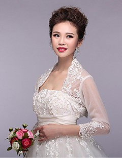 Wedding / Party/Evening Lace / Tulle Shrugs Half-Sleeve Wedding  Wraps
