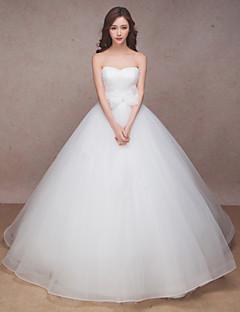 Wedding Dress-White Sweep/Brush Train Sweetheart Organza