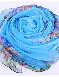 Roses Printed Silk Autumn And Winter Scarves Female Wild Long Section Of The Warm Shawl
