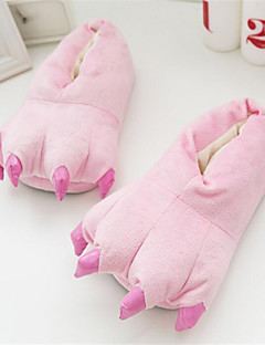 Kigurumi Pajamas Anime Shoes Slippers Festival/Holiday Animal Sleepwear Halloween Pink Yellow Blue Dark Green Solid Cotton Slippers For
