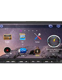8 polegadas tela TFT de 2 din carro dvd player de painel com Bluetooth, GPS de navegação-pronta, ipod-  entrada, o RDS