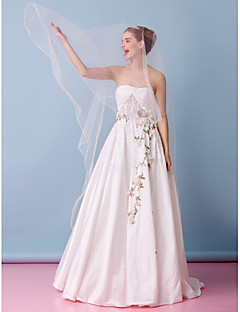 Lanting A-line Wedding Dress - White Court Train Strapless Lace / Taffeta