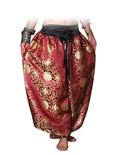Női-Hastánc-Alsók(Arany / Burgundi vörös,Pamut,Minta/Nyomat)