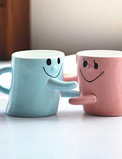 2 stuks valentine's geschenk mannen en vrouwen vrienden verjaardagscadeau liefhebbers lachend gezicht knuffel voor een kopje paar kopjes