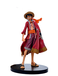 en bit sidan animation mantel luffy anime actionfigur modell leksak