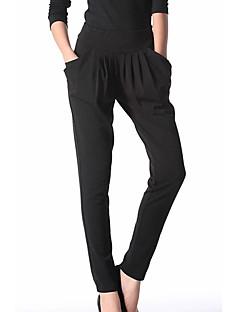 Kvinner Arbeid / Fritid Harem Bukser Modal / Polyester Mikroelastisk
