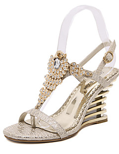 Women's Shoes Synthetic Wedge Heel  Open Toe Sandals Party & Evening / Dress Pink / Almond / Rose Gold