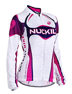 NUCKILY® Cycling Jersey Women's Long Sleeve BikeBreathable / Windproof / Anatomic Design / Ultraviolet Resistant / Moisture Permeability