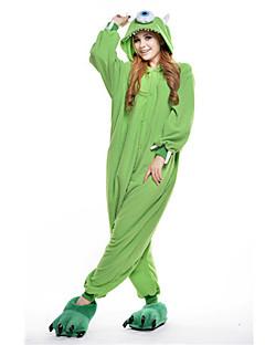 Kigurumi Pajamas New Cosplay® / Monster Leotard/Onesie Halloween Animal Sleepwear Green Patchwork Polar Fleece Kigurumi UnisexHalloween /