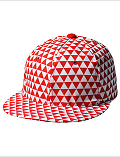 2016 Korea Fluorescent Color Triangle Geometric Pattern Plaid Hat Hip Hop