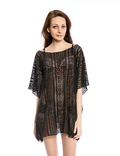 Aaronano Women's Sexy Crochet Hollow Out  Swimwear Cover-up,Black
