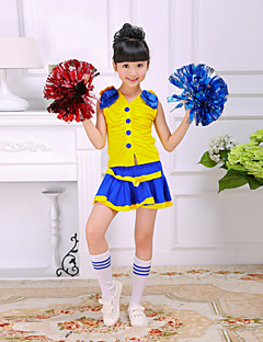 Cheerleader Costumes Children's Performance Polyester Cute Color Block 2 Pieces Outfits