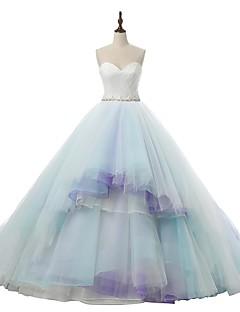 웨딩 드레스-A-라인 코트 트레인 스윗하트 튤