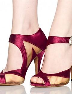 Aanpasbaar-Dames-Dance Schoenen(Zwart / Rood) - metSpeciale hak- enLatin / Jazz / Salsa / Samba / Swingschoenen