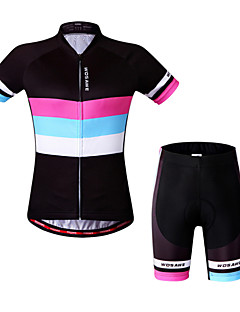 Wosawe® Cycling Jersey with Shorts Women's Short Sleeve BikeBreathable / Quick Dry / Anatomic Design / 3D Pad / Reflective Strips / Back