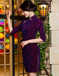 코스프레 코스츔 민족/종교적 페스티발/홀리데이 할로윈 의상 프린트 드레스 새해 여성 테럴린 플레우체