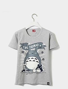 Inspireret af Min Nabo Totoro Kat Anime Cosplay Kostumer Cosplay T-shirt Trykt mønster Gul Kort Ærme T-shirt