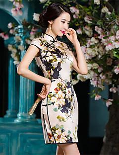 코스프레 코스츔 파티 코스튬 민족/종교적 페스티발/홀리데이 할로윈 의상 프린트 드레스 새해 여성 실크